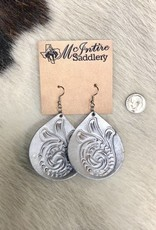 EARRING TOOLED BELL SILVER