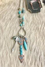 Necklace Earring SET Bead Arrow XL