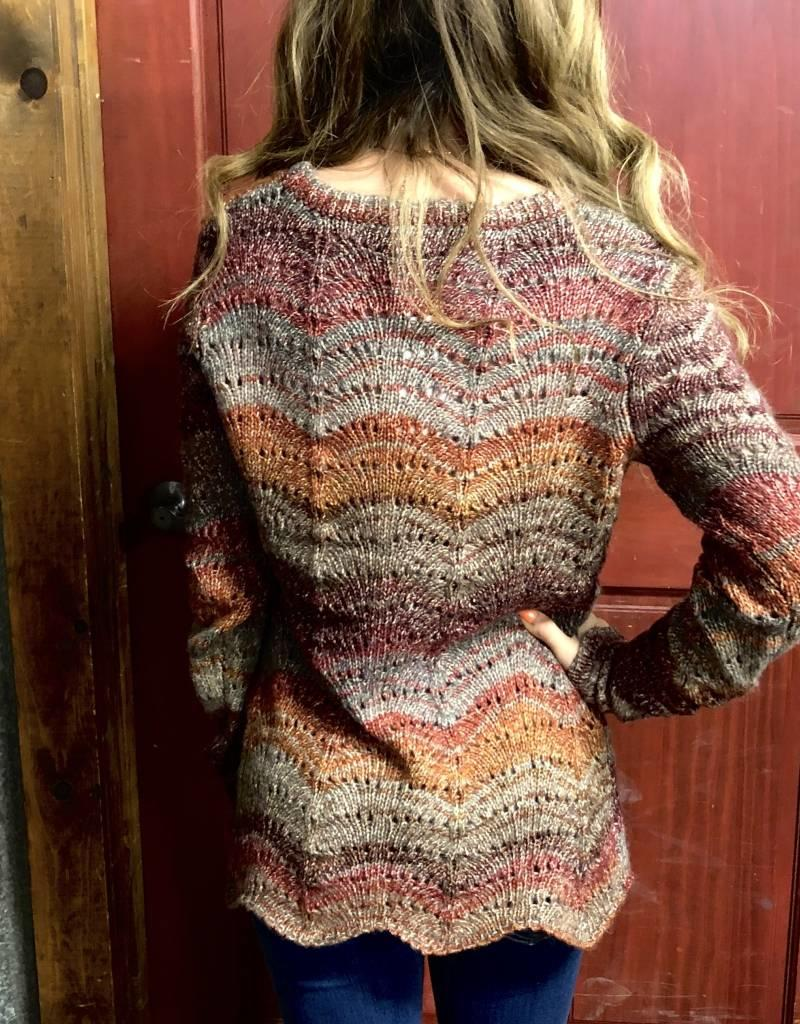 NOBLE NOBLE WNS SWEATER DENVER POINTELLE PULLOVER
