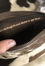 COWHIDE BEBE COSMETIC BAG HAIR ON