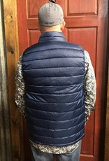ARIAT ARIAT MNS IDEAL DOWN VEST DEEP OCEAN  BLUE PACKABLE