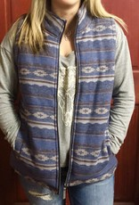 CINCH CRUEL WNS PATTERNED TWEED VEST NAVY