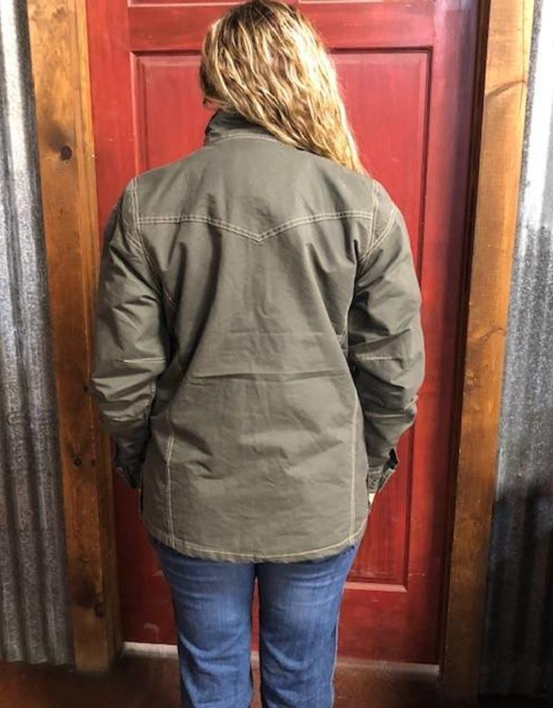 WNS STS LODEN SUNDANCE JACKET SOFT CANVAS WITH FLANNEL LINING