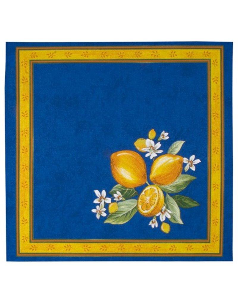 Napkin Lemons Blue