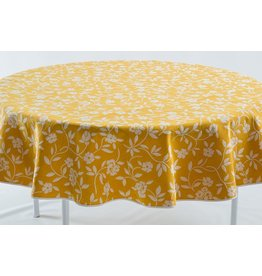 Mercurio Reversible Jacquard Round, Yellow