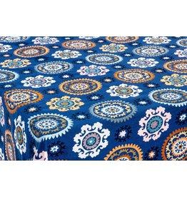 Boukhara Jacquard Round, Blue