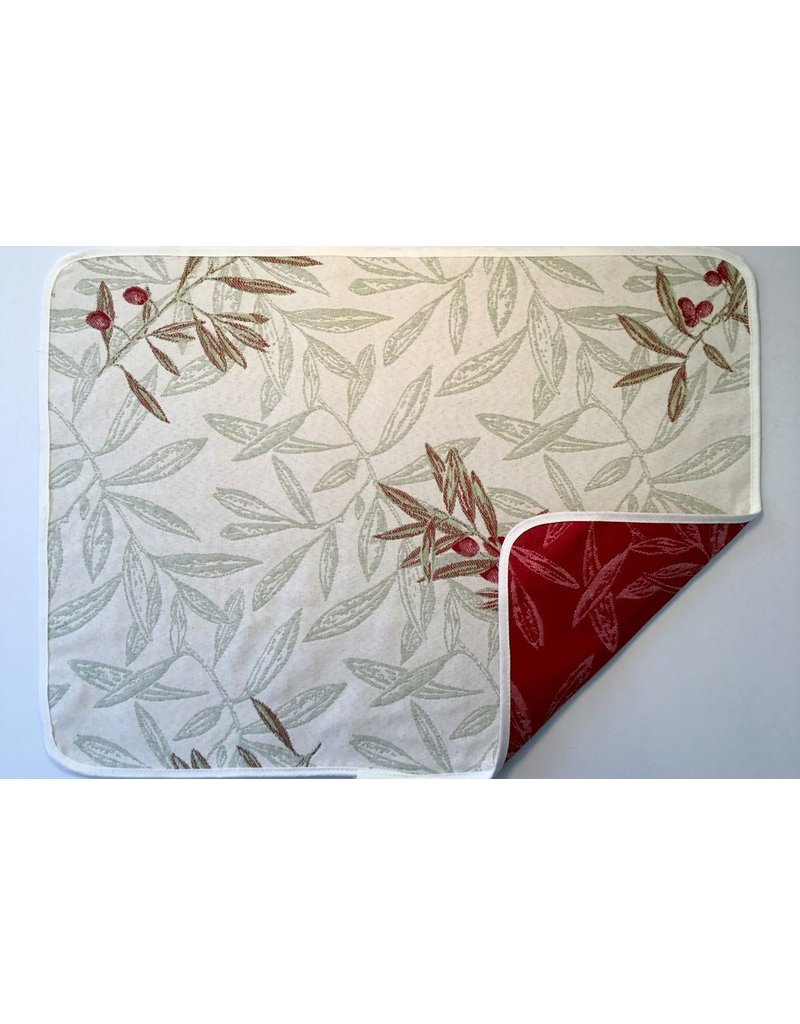 Auriol All Over Reversible Jacquard Placemat Red