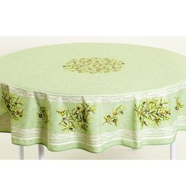 Cotton Olives Green 70 inch Round