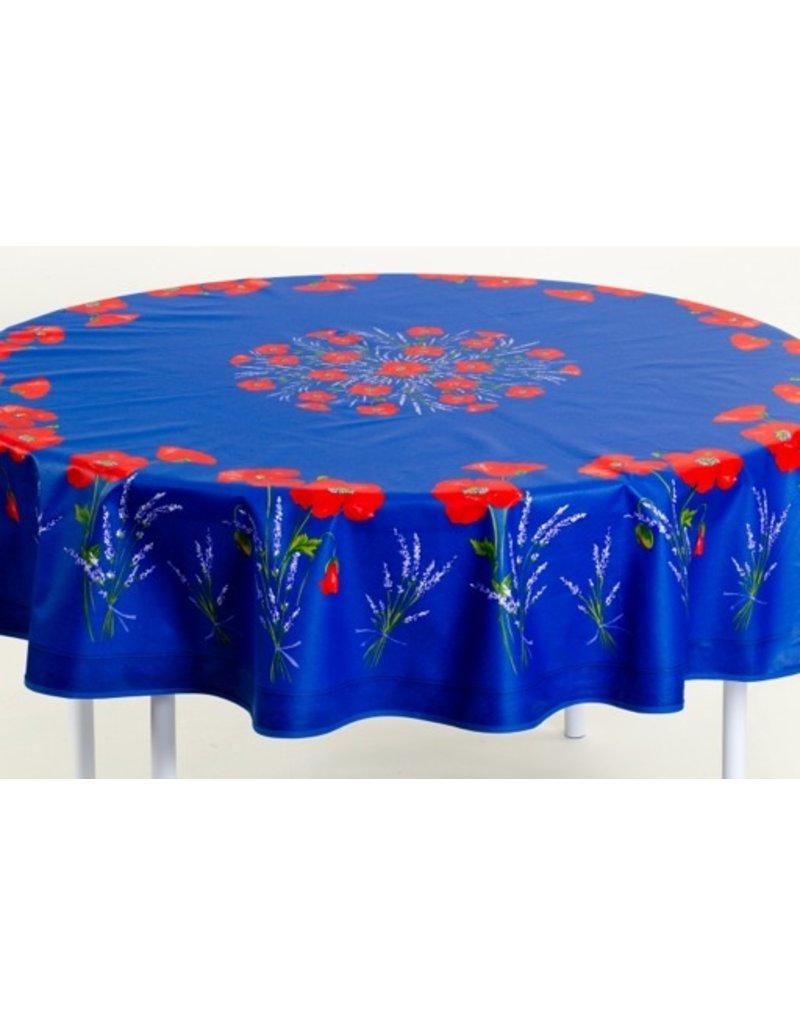 Cotton Poppies Blue 70 in Round