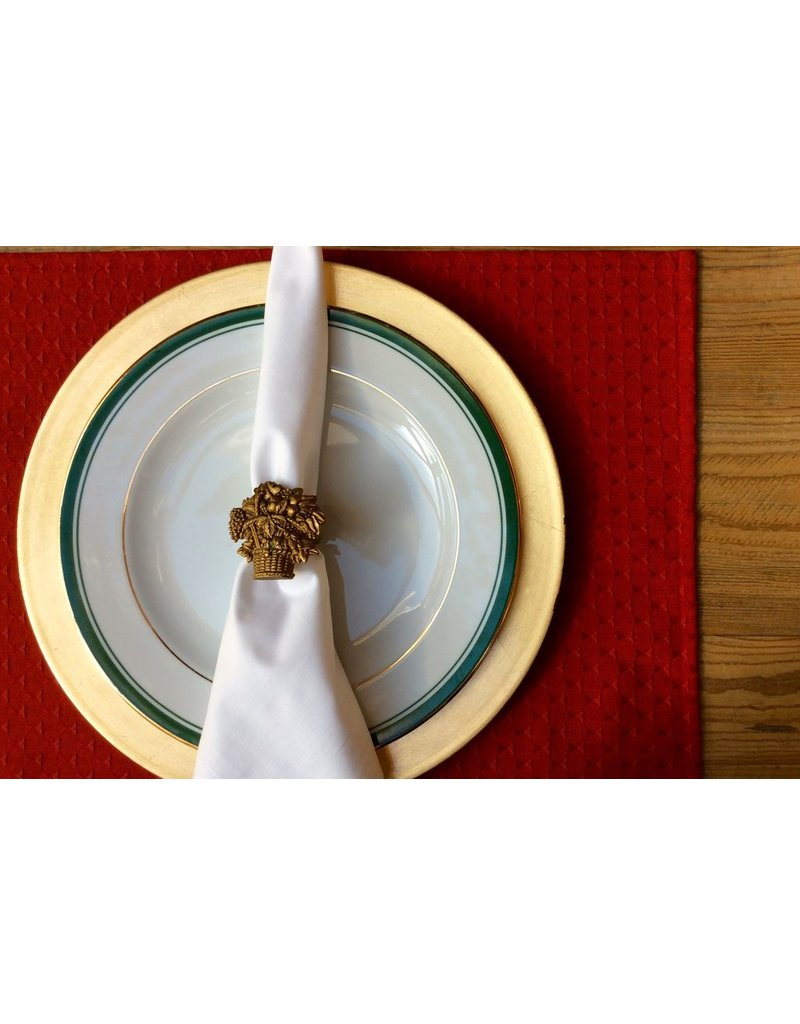 Triangle Red Jacquard Placemat