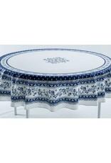 Acryilc-coated Avignon White w/ Blue 70 in Round