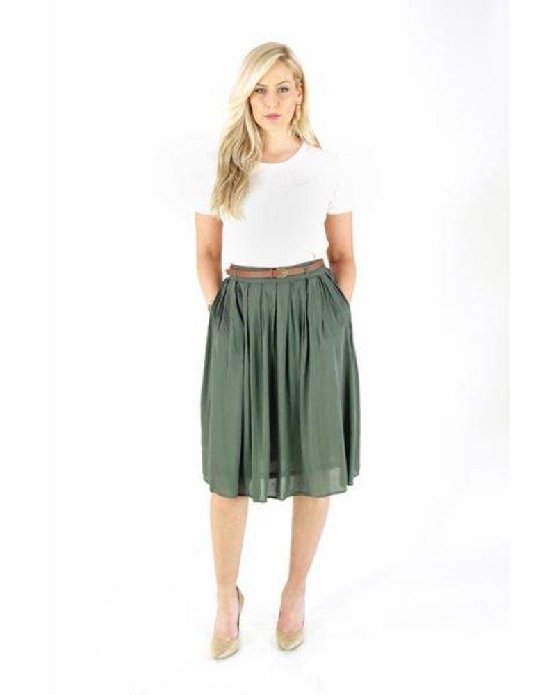 Berry Me Pleat Skirt