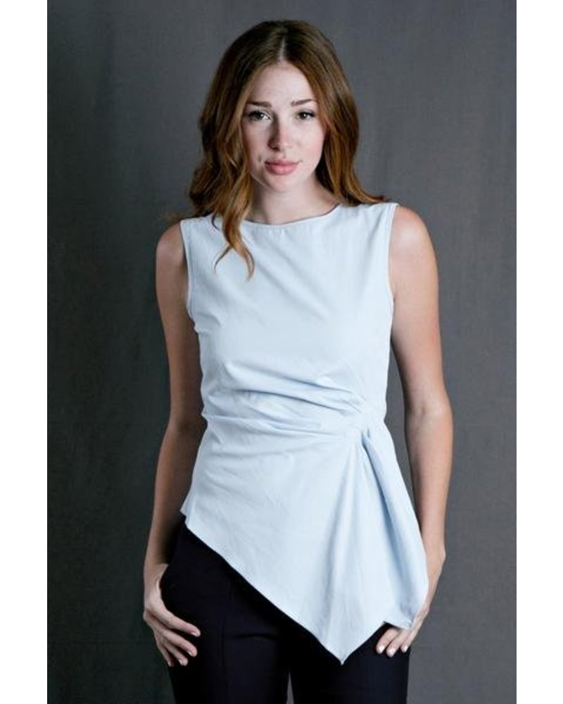 Blue Gathered Top