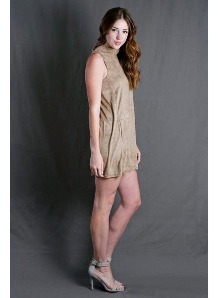 Camel Suede Dress