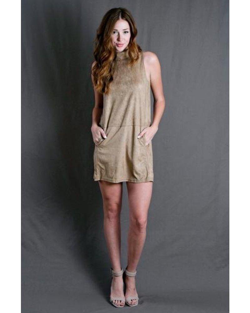 Camel Suede Dress
