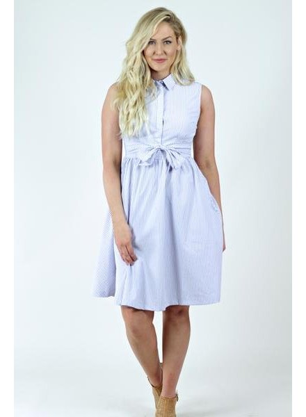 Front Tie Shirt Dress