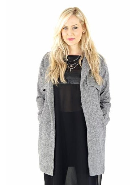 Grey Duster Jacket