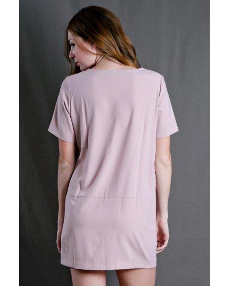 Pink Vneck Tunic