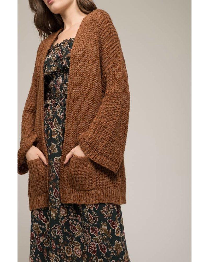 Moon River Rust Knit Cardagin