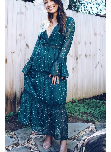 Moon River Deep Teal Maxi Dress