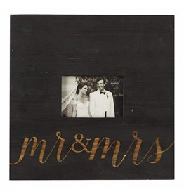 Mr. & Mrs. Black Square Frame 3.5x5