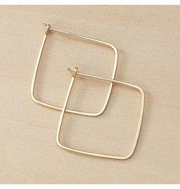 Freshie & Zero Minimal Small Square Hoops, GF