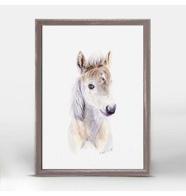 Greenbox Art 5x7 Mini Framed Canvas Baby Horse