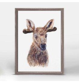 Greenbox Art 5x7 Mini Framed Canvas Moose Portrait