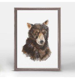 Greenbox Art 5x7 Mini Framed Canvas Bear Cub