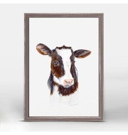 Greenbox Art 5x7 Mini Framed Canvas Baby Cow