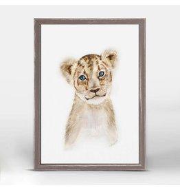 5x7 Mini Framed Canvas Lion Cub