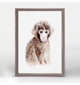 5x7 Mini Framed Canvas Baby Monkey
