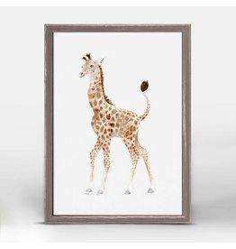 Greenbox Art 5x7 Mini Framed Canvas Standing Baby Giraffe