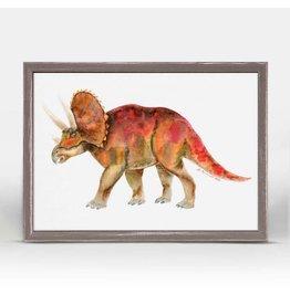 Greenbox Art 5x7 Mini Framed Canvas Triceratops