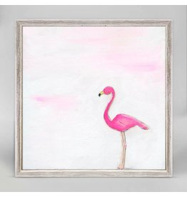 6x6 Mini Framed Canvas A Pink Flamingo