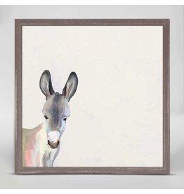 Greenbox Art 6x6 Mini Framed Canvas Baby Donkey