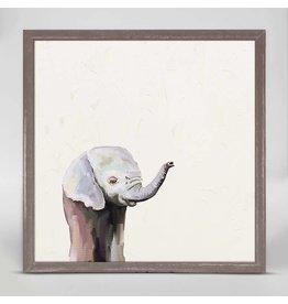 6x6 Mini Framed Canvas Baby Elephant