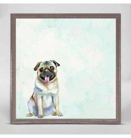 Greenbox Art 6x6 Mini Framed Canvas Pug