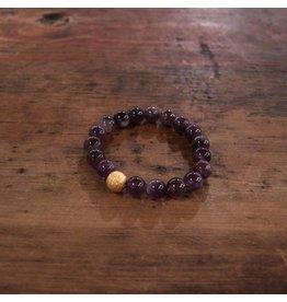 Ali & Bird Amethyst Beaded Bracelet