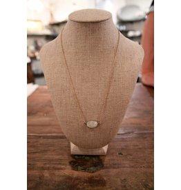 Gemstone Necklace Gold