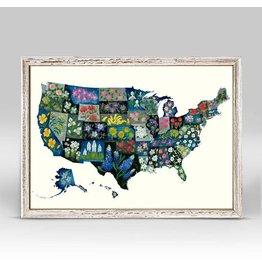 United States State Flowers Mini Canvas