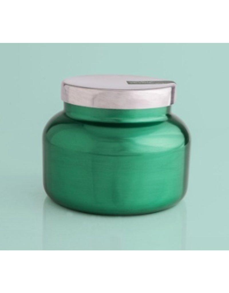 Capri Blue 19oz Green Metallic Signature Jar Volcano