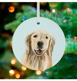 Greenbox Art Blonde Retriever Ornament