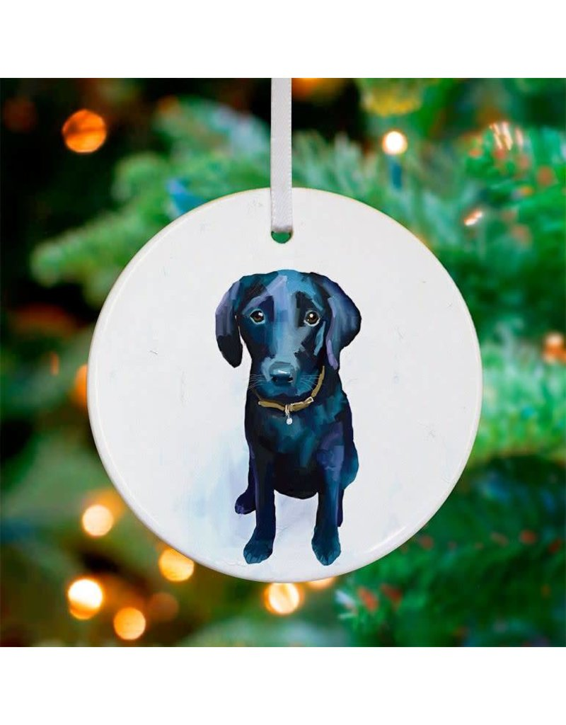 black lab ornament - Black Lab Christmas Ornament