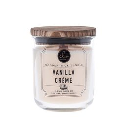 DW Home Candles Vanilla Creme Wooden Wick