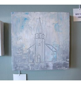 Scott Ellis 10x10 Church Outline Painting