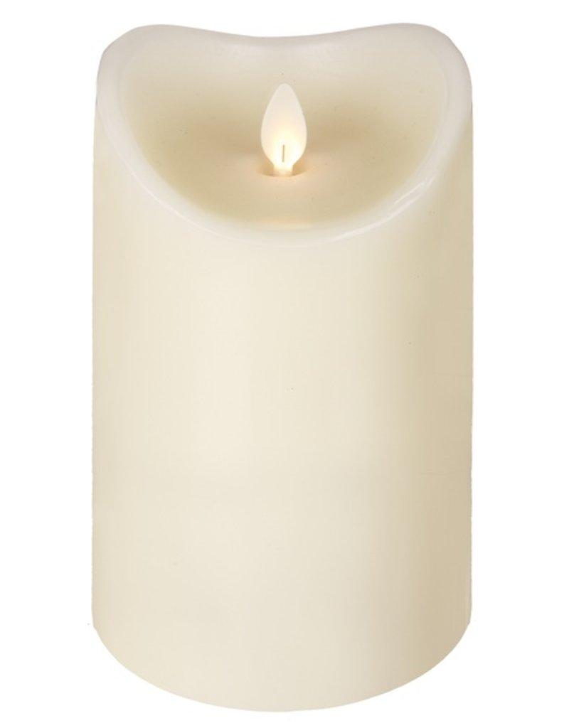 LuxuryLite 3.7x6 Wax LED Pillar Candle Ivory