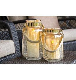 LuxuryLite 3x8 Wax LED Pillar Candle Ivory