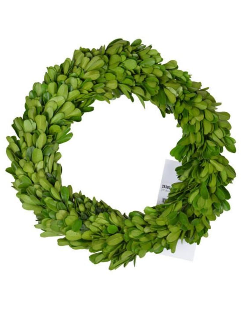 """A&B Home 7.5"""" Preserved Boxwood Candle Ring"""