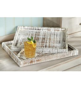 Distressed Wood Tray Small